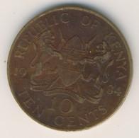 KENYA 1984: 10 Cents, KM 18 - Kenya
