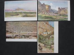 Lot Of 4 Postcards HELLAS - GREECE - GRÈCE - ATHENS - ATHÈNES, Colored Postcards - Grèce