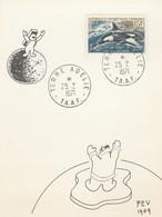 TAAF - YT 30 SEUL SUR CARTE POSTALE VOEUX POUR 1971 - PEV 1969 - TERRE ADELIE - Brieven En Documenten