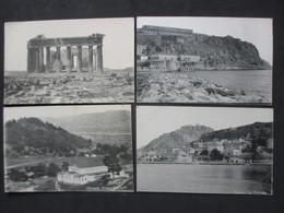 Lot Of 4 Postcards HELLAS - GREECE - GRÈCE - ATHENS - ATHÈNES, Acropolis & Buildings - N°1 - Grèce