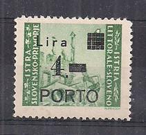 OCCUPAZIONE JUGOSLAVIA 1946 ISTRIA E LITORALE SLOVENO SEGNATASSE SASS.10 MLH XF - Occ. Yougoslave: Littoral Slovène