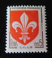 France - Timbre YT N°1230 Avec Variété Maculage Couleur Rouge (papier Rosi) + écu Touchant Le Cadre - Neuf** - Curiosa: 1960-69 Postfris