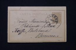 """ROUMANIE - Entier Postal Pour Bucarest En 1894, Oblitération  """" C. Lungu """"  - L 92157 - Entiers Postaux"""