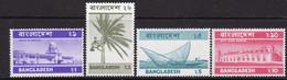 Bangladesh 1974 Definitives, Revised Value Inscription, Set Of 4, MNH, SG 49/51a (F) - Bangladesh