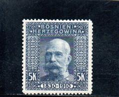 BOSNIE-HERZEGOVINE 1906 * - Bosnien-Herzegowina