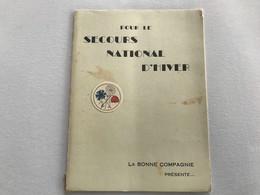 Programme Soirée  SECOURS NATIONAL D'HIVER - 1940/41 - Theatre Municipal De BONE (Algerie) - Programas