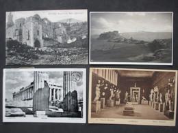 Lot Of 4 Postcards HELLAS - GREECE - GRÈCE - ATHENS - ATHÈNES, All Used, Stamps & Pmk's - N°2 - Grèce