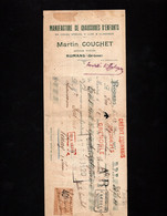 ROMANS (Drôme) -Lettre De Change 1925 - Manufactures De Chaussures D'Enfants - Martin COUCHET - Wechsel