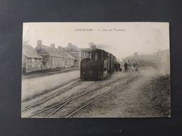 Guécélard - La Gare Des Tramways (beau Plan) - Sonstige Gemeinden