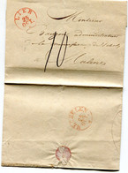 Précurseur Cad Rouge Type 11 LIER Superbe-Malines 1829  Taxée 10 + Texte - 1815-1830 (Holländische Periode)