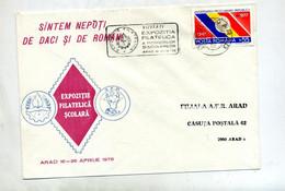 Lettre Flamme Arad Visitez Exposition - Marcofilie - EMA (Printer)