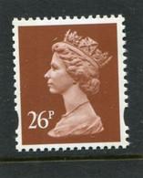 GREAT BRITAIN - 1996  MACHIN  26p  2B  QUESTA  MINT NH  SG Y1691 - Unused Stamps
