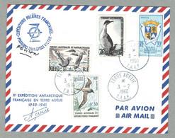 1960 TAAF / FSAT TERRE ADÉLIE PAUL-ÉMILE VICTOR ET ALFRED FAURE - Covers & Documents