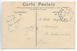MALROY Haute Marne CAD Recette Auxiliaire Sur 5c Blanc 1907 Cpa Boeufs Labourage Nivernais Rosa Bonheur   ..G - 1877-1920: Semi Modern Period