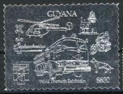 Guyane 1992 Hélicoptère Camion De Pompiers Fire Men  MNH - Hélicoptères