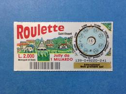 ITALIA LOTTERIA BIGLIETTO GRATTA E VINCI USATO L 2000 ROULETTE SAINT VINCENT LOTTO 139 ITALY LOTTERY TICKET - Billetes De Lotería
