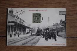 Cpa  VERNON Eure   L'arrivée Du Train Dans La Gare 1917 - Vernon