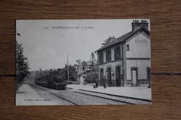 Cpa Seine Maritime Normandie  EPOUVILLE   Arrivée Du Train Dans La Gare - Other Municipalities
