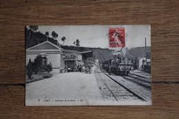 Cpa CANY   Le Train Dans La Gare Voyageurs Normandie - Cany Barville