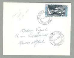 1965 TAAF / FSAT PA 8 AVEC OBLITÉRATION PREMIER JOUR AVEC DATE ERRONÉE - Brieven En Documenten