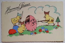 Carte Postale Humour Pâques Guerre Militaire - Pasen