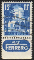 Algérie 314 Avec Bande Publicitaire FERRERO - Usados