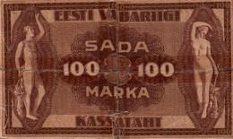 ESTONIA 100 MARKA SERIES II, 1919  / 48 B - Estonia
