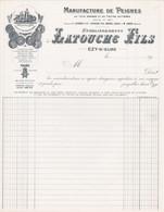 27 EZY SUR EURE FACTURE Manufacture De Peignes LATOUCHE - X120 EURE Evreux - 1900 – 1949