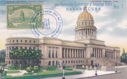 """""""CONFERENCIA DE LA NACIONES UNIDAS SOBRE COMERCIO  Y EMPLEO, 1947-1948"""". CUBA, HABANA. CARTE POSTALE.- LILHU - FDC"""