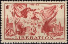 FRANCE  739 ** MNH Libération Alsace Et Lorraine Cathédrale Strasbourg Folklore - Nuovi