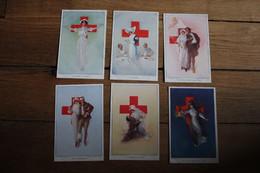 6 Cpa  Les Infirmières Guerre 1914 1918 WWI - War 1914-18