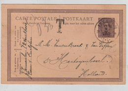 REF3616/ Entier CP 58 C.Isegem (Izegem) 1922 Griffe T 0,30 Manuscrit > Holland - Brieven