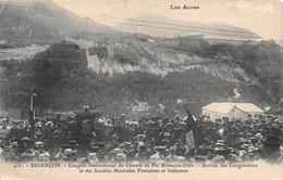 """M012372"""" BRIANCON-CONGRES INT. DU CHEMIN DE FER BRINCON-OULX......"""" ANIMATA-VERA FOTO-CART SPED 1908 - Briancon"""