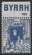 ALGERIE N°137a **  Avec Pub BYRRH Sec  Neuf Sans Charnière Luxe MNH - Ongebruikt