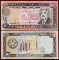 TURKMENISTAN BANKNOTE - 500 MANAT 1995 P#7b UNC (NT#02) - Turkmenistan