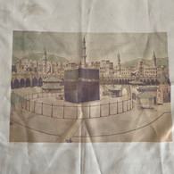 1163 Holy Kaaba Fabric Print Tissu 54x54 Cm - Fulares