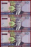 TURKMENISTAN BANKNOTE - 3 NOTES 50 MANAT 2005 P#17 UNC (NT#02) - Maldives