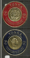 ILES TONGA. The Gold Coinage Of Polynesia.   2 Round Stamps Mint ** - Coins
