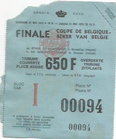 FOOTBALL/TICKET FINALE COUPE DE BELGIQUE/21 MAI 1978 - Abbigliamento, Souvenirs & Varie