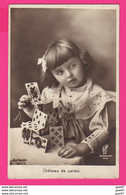 CPA (Réf: Z 2968) (JEUX & JOUETS) Château De Cartes - Games & Toys
