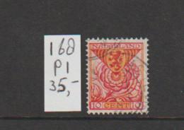 (W505.3) Plaatfout NVPH 168 P1 Gestempeld CW 35,- - Abarten Und Kuriositäten