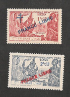 FRENCH INDIA ...1941: Yvert157-8 Mnh** - Unclassified