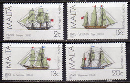 MALTA 1983 MALTESE SAILING SHIPS NAVI A VELA MALTESI COMPLETE SET SERIE COMPLETA MNH - Malta