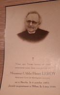 ABBE HENRI LEROY, BINCHE 1893 - MILAN 1949 - Santini