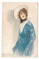 CARD MAUZAN DONNINA IN AZZURRO PIEGHINA O SEGNI DI ALBUM ANGOLO SINISTRO IN ALTO 1917 -FP-V-2-0882-29945 - Mauzan, L.A.
