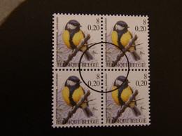 Buzin Persontwaarding Koolmees 2966 Blok 4 - 1985-.. Pájaros (Buzin)