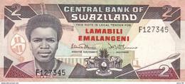 Swaziland P.13 2 Emalageni 1987 Au - Swaziland