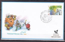 Iran 2020 National Heroes Stamp, Covid 19, Corona   Set MNH  FDC - Iran