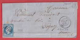 N°22 GC 3979 TOUL MEURTHE ET MOSELLE BOITE RURALE Z TRONDE POUR LIGNY - 1849-1876: Klassik