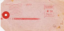 France , De  Paris  En 1933, Etiquette , Avec  Machine Havas  Type C 30c  TB - Annullamenti Meccaniche (Varie)
